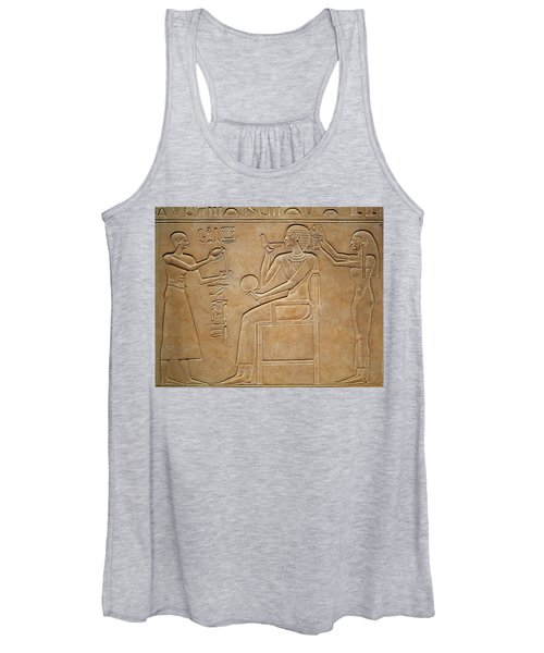 Queen Kawit At Her Toilet, From The Sarcophagus Of Queen Kawit Women's Tank Top