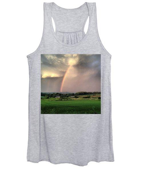 Rainbow Poured Down Women's Tank Top