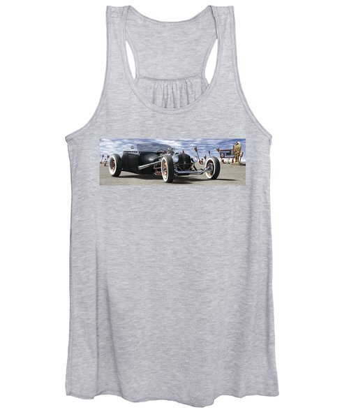 Rat Rod On Route 66 2 Panoramic Women's Tank Top