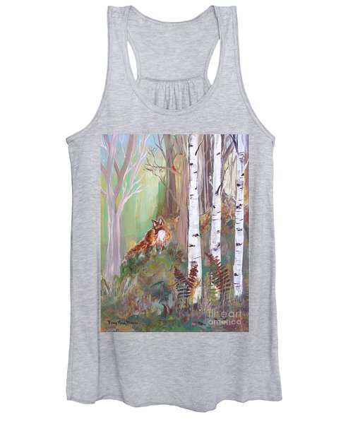 Red Fox And Cardinals Women's Tank Top