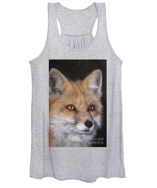 Red Fox Portrait Wildlife Rescue Women's Tank Top