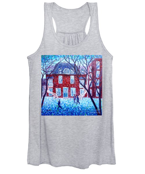 Red House In Montreal - Cityscape Women's Tank Top