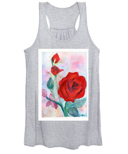 Red Roses Women's Tank Top