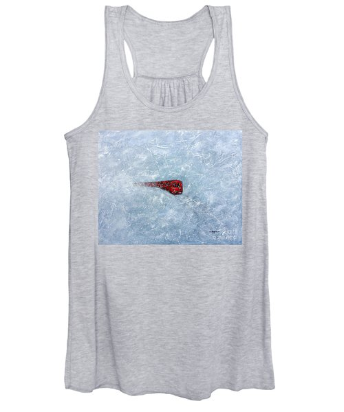 Red Train Braving The Winter Women's Tank Top