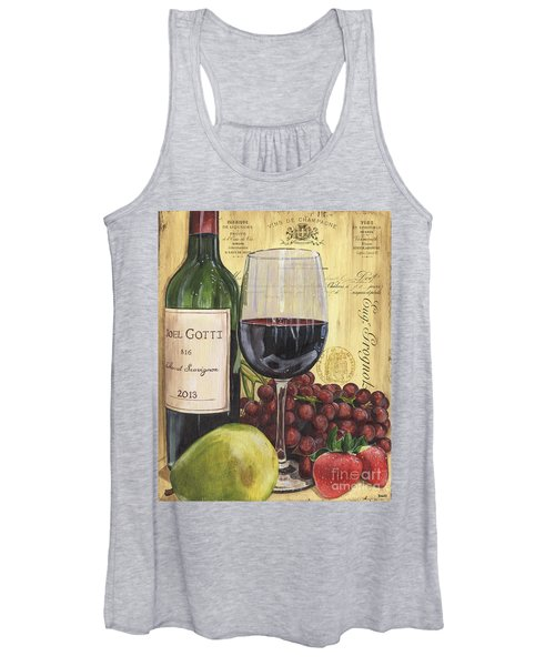 Red Wine And Pear Women's Tank Top