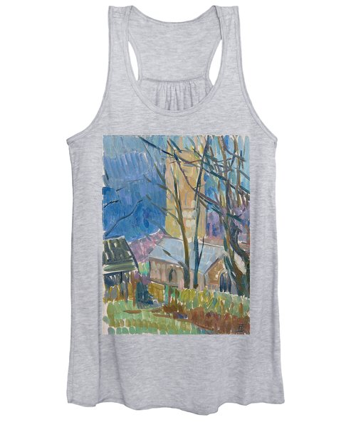 Reverend Hawkers Church At Morwenstow IIi Oil On Canvas Women's Tank Top