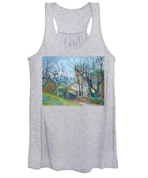 Reverend Hawkers Church At Morwenstow Oil On Canvas Women's Tank Top