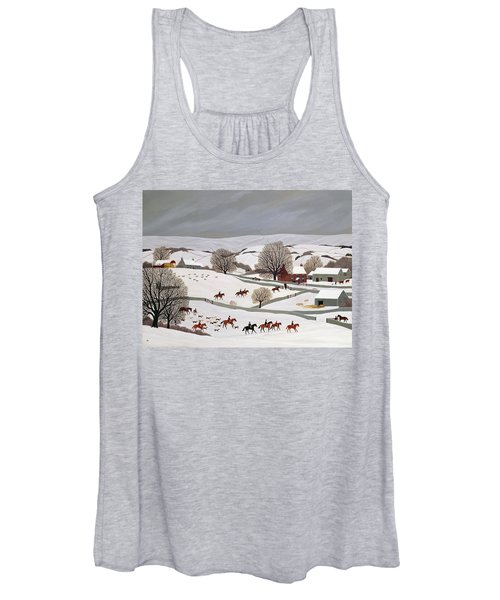 Riding In The Snow Women's Tank Top