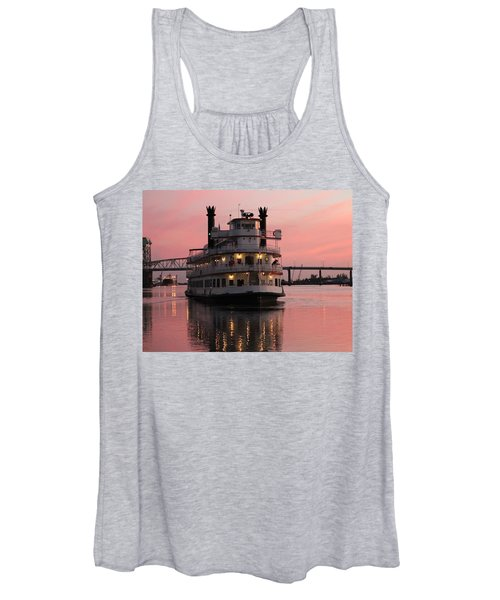 Riverboat At Sunset Women's Tank Top