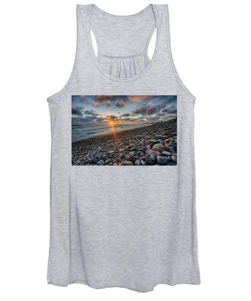 Rocky Coast Sunset Women's Tank Top