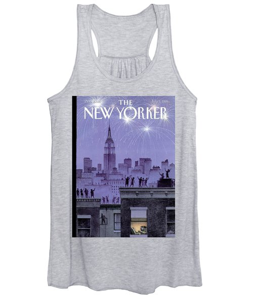 Rooftop Revelers Celebrate New Year's Eve Women's Tank Top