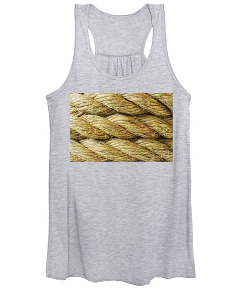 Rope Background Texture Women's Tank Top