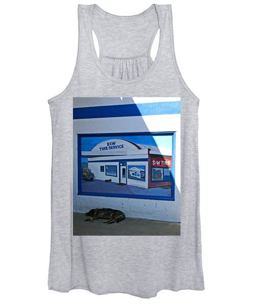 S And W Tire Service Mural Women's Tank Top