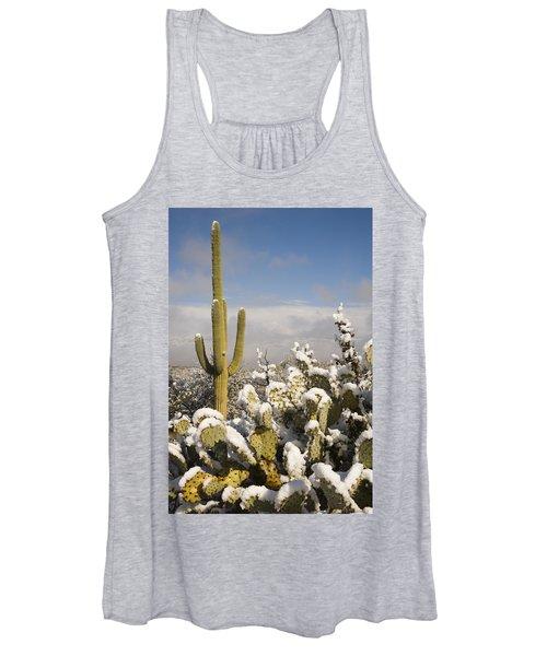 Saguaro Cactus In Snow Saguaro Np Women's Tank Top