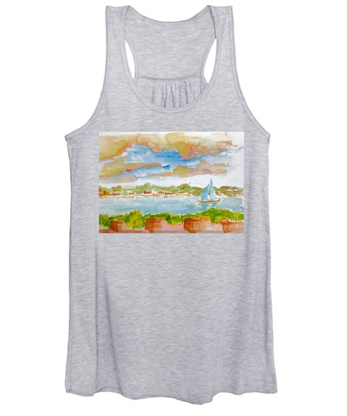 Sailing On The River Women's Tank Top