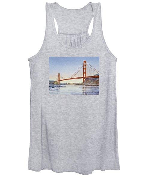 San Francisco California Golden Gate Bridge Women's Tank Top