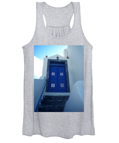 Santorini Door  To Heaven  Women's Tank Top