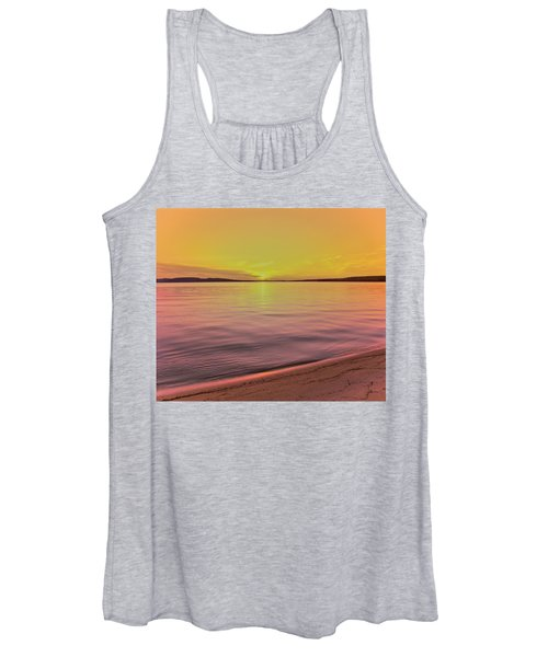 Scenic View Of Lake At Dusk, Sand Women's Tank Top