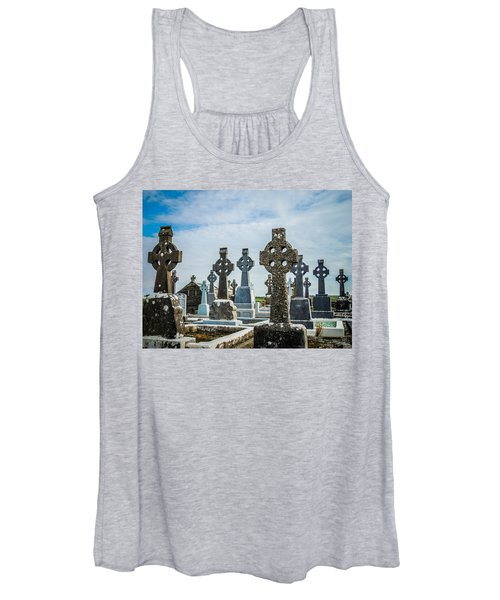 Women's Tank Top featuring the photograph Sea  Of Celtic Crosses by James Truett