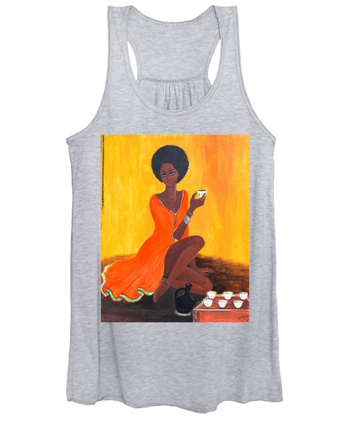 Serving Coffee Women's Tank Top