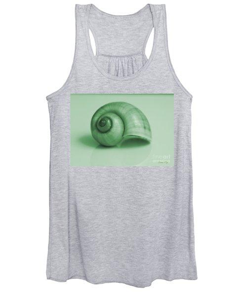 Shell. Light Green Women's Tank Top