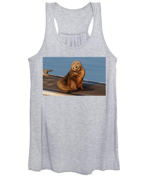 Shy Sea Lion Pup  Women's Tank Top