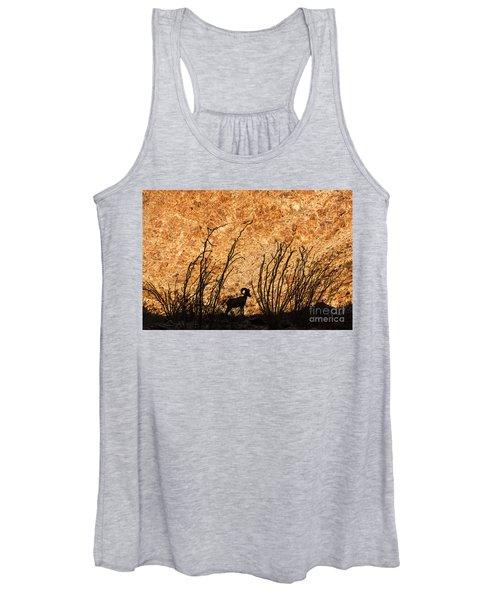 Silhouette Bighorn Sheep Women's Tank Top