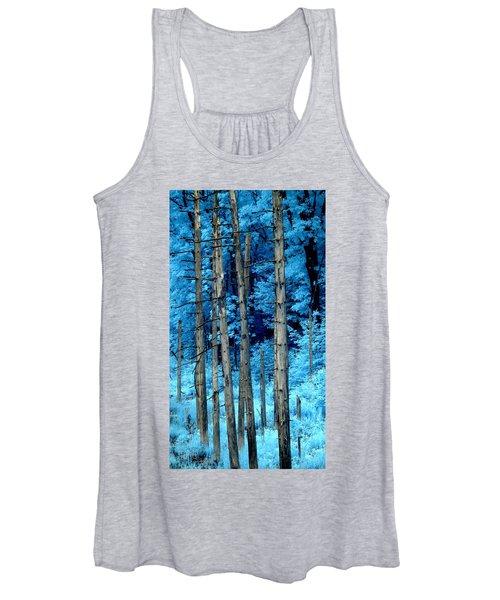 Silver Trees Women's Tank Top