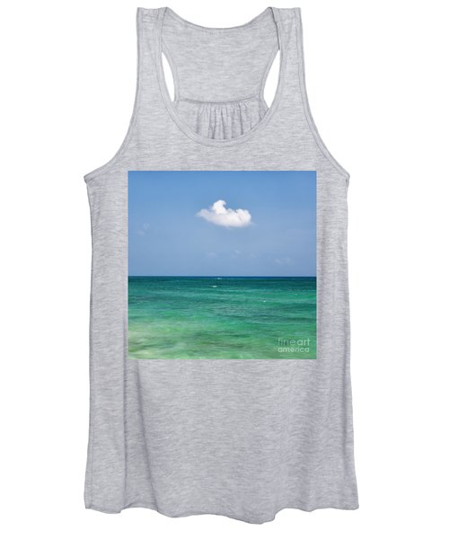 Single Cloud Over The Caribbean Women's Tank Top