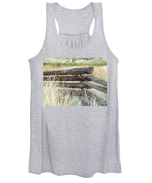 Snake Fence And Sage Brush Women's Tank Top