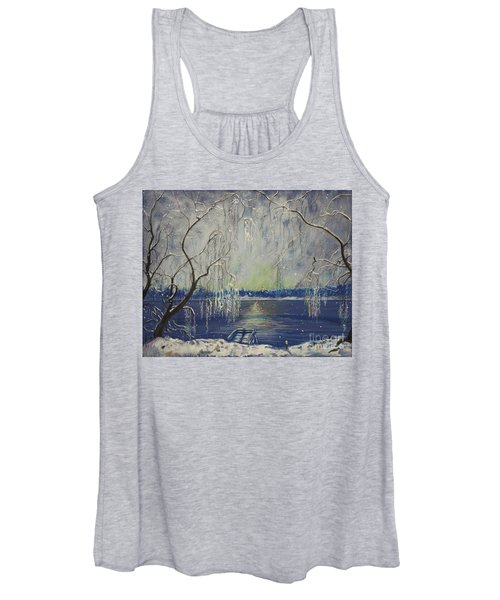 Snowy Day At The Lake Women's Tank Top