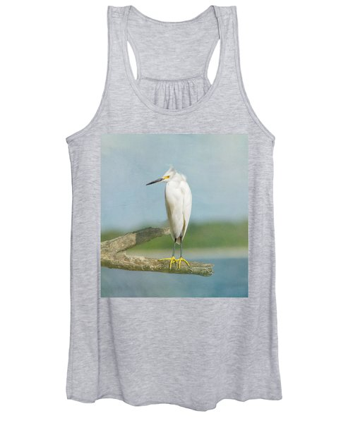 Snowy Egret Women's Tank Top
