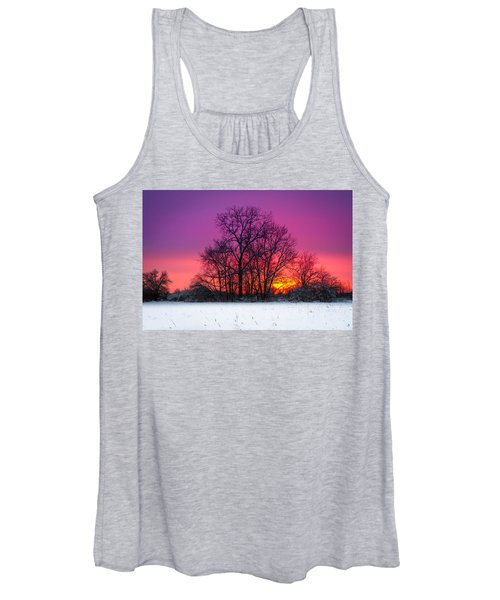 Snowy Sunset Women's Tank Top