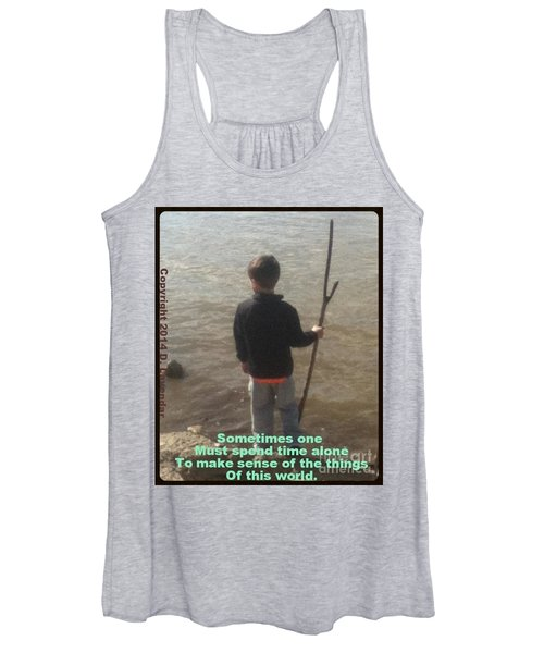 Sometimes One Must Spend Time Alone Women's Tank Top