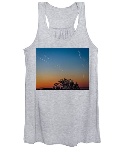 Women's Tank Top featuring the photograph Squadron Of Jet Trails Over Ireland by James Truett