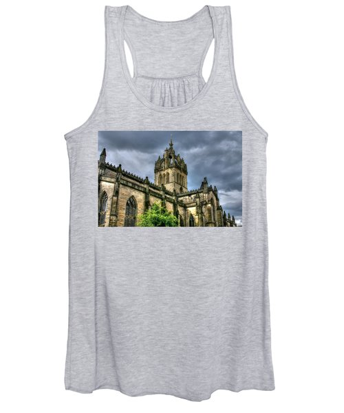St Giles And Tree Women's Tank Top