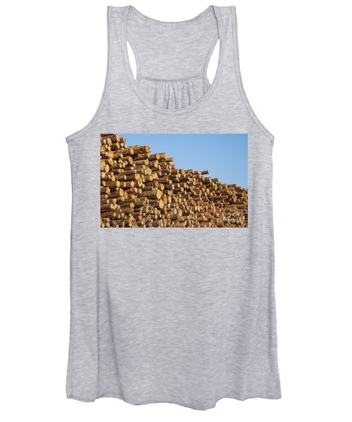 Stacks Of Logs Women's Tank Top