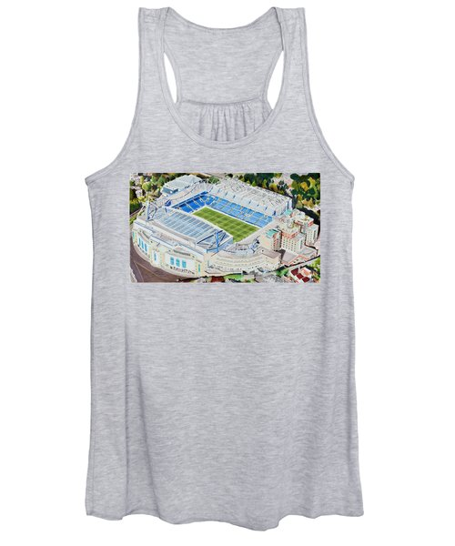 Stamford Bridge Stadia Art - Chelsea Fc Women's Tank Top