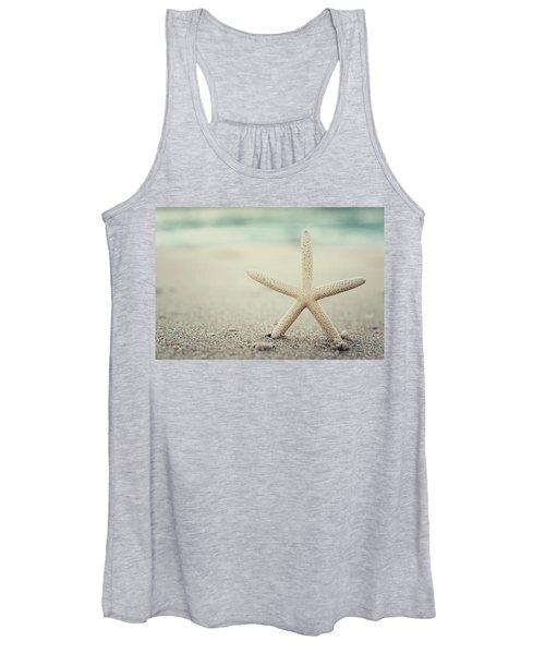 Starfish On Beach Vintage Seaside New Jersey  Women's Tank Top