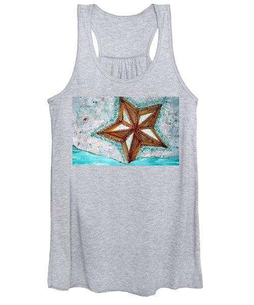 Starfish On The Beach Alcohol Inks Women's Tank Top