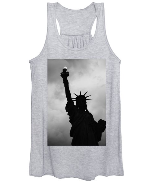 Statue Of Liberty Silhouette Women's Tank Top