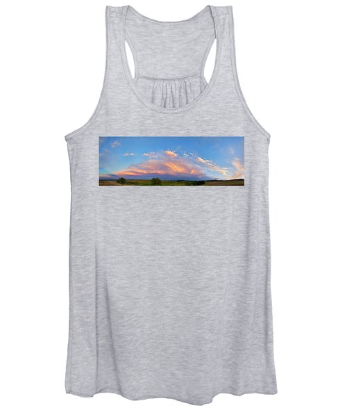 Storm Front Sunset Moon Longmont To Boulder Co Panorama Women's Tank Top