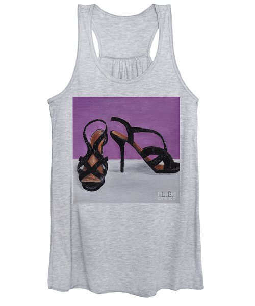 Strappy Black Heels For Maddy Women's Tank Top