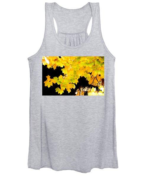 Sugar Maple Autumn Foliage, Quincy California Women's Tank Top