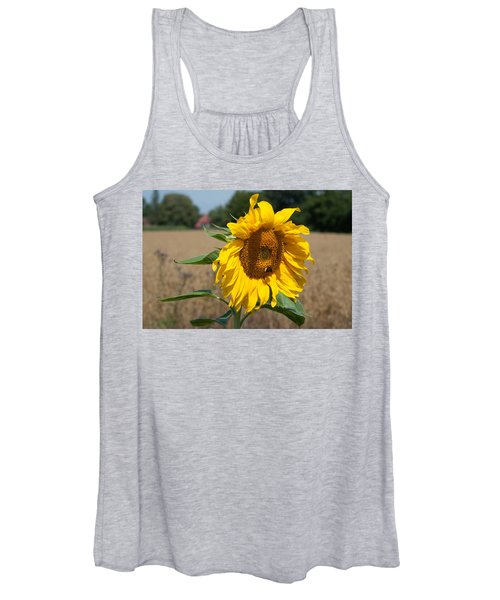Sun Flower Fields Women's Tank Top