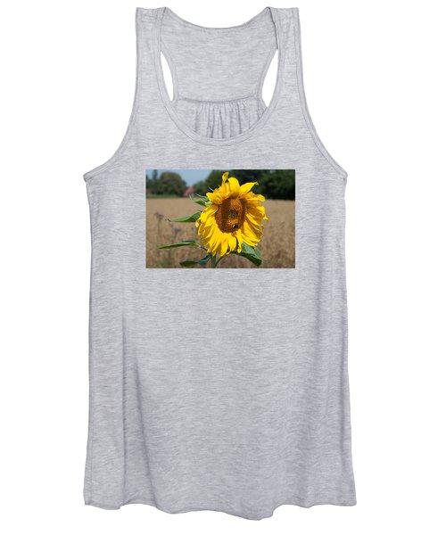 Sun Flower Fields Women's Tank Top