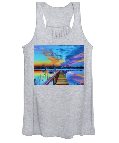 Sunrise On The Dock Women's Tank Top