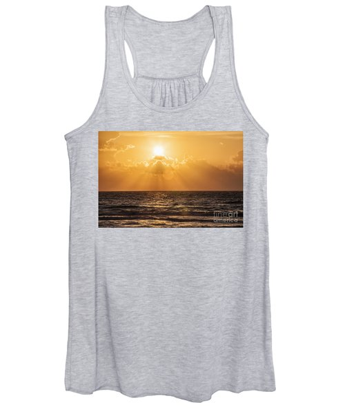 Sunrise Over The Caribbean Sea Women's Tank Top