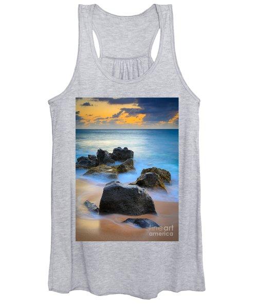 Sunset Beach Rocks Women's Tank Top