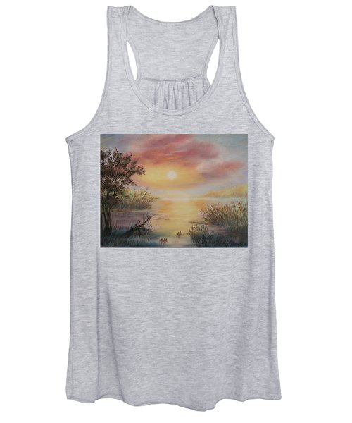 Sunset By The Lake Women's Tank Top